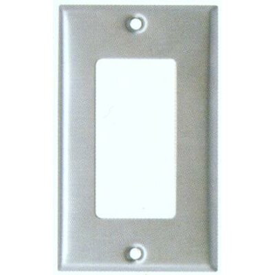 Oversize 1 Gang Decorator / GFCI Wall Plate in Stainless