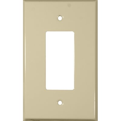 Oversize 1 Gang Decorator / GFCI Wall Plate in Ivory (Set of 3)