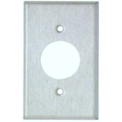 Oversize 1 Gang Single Receptacle Wall Plate in Stainless