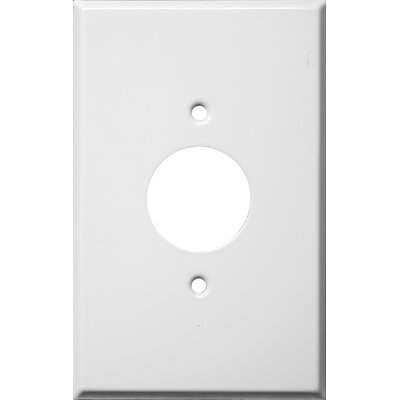 Oversize 1 Gang Single Receptacle Wall Plate in White