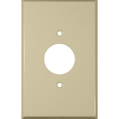 Oversize 1 Gang Single Receptacle Wall Plate in Ivory