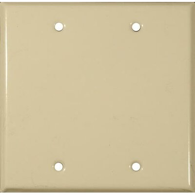 Two Gang and Blank Metal Wall Plates in White (Set of 4)