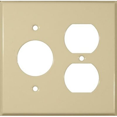 2 Gang 1 Duplex 1 Single Stainless Steel Metal Wall Plates in White