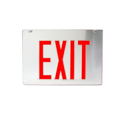 2 Sided Replacement Panel for Exist Sign - Red on Clear Panel and Black Housing