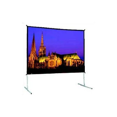 Black Fixed Frame Projection Screen Size: 103 x 139 Video