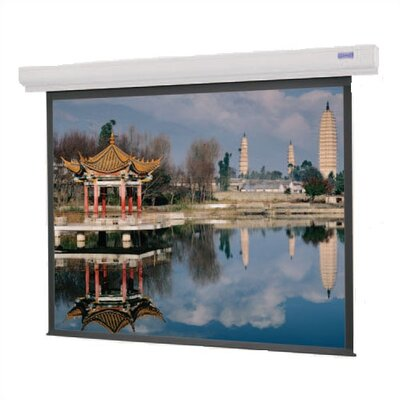 Designer Contour Electrol Matte White Electric Projection Screen Viewing Area: 6 H x 8 W