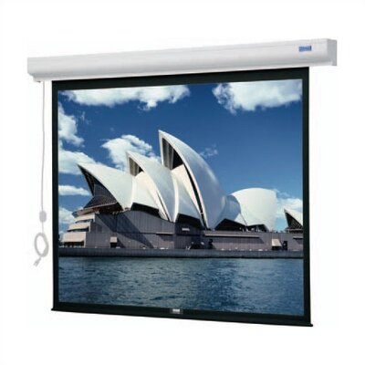 Designer Cinema Electrol Matte White Electric Projection Screen Viewing Area: 6 H x 8 W