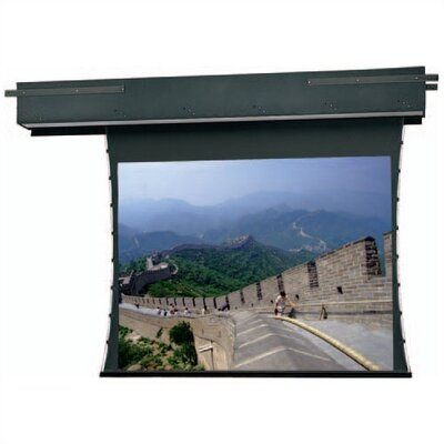 Tensioned Executive Electrol Grey 54 H x 96 W Motorized Electric Projection Screen