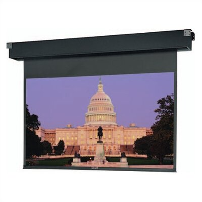 Dual Masking Electrol Motorized Matte White Electric Projection Screen Viewing Area: 69 H x 92 W
