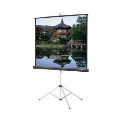 """Da-Lite Carpeted Picture King High Contrast Matte Black Portable Projection Screen - Viewing Area: 120"""" diagonal"""