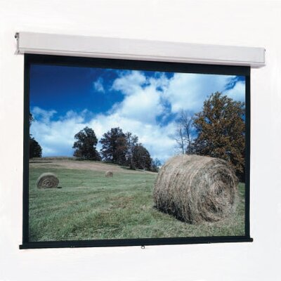Advantage Black Manual Projection Screen Viewing Area: 8 H x 8 W