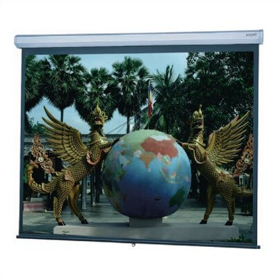Model C Matte White Manual Projection Screen Viewing Area: 9 H x 9 W