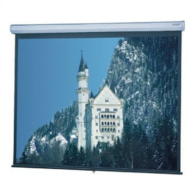 Model C Matte White Manual Projection Screen Viewing Area: 10 H x 10 W
