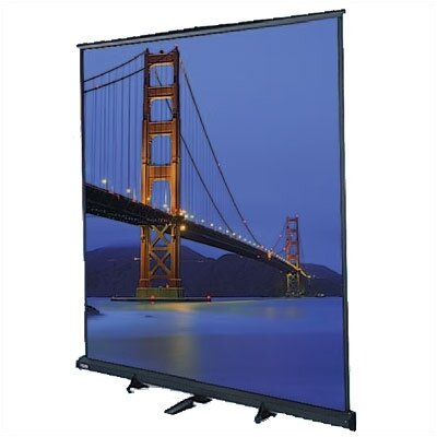 Floor Model C Matte White Manual Projection Screen Viewing Area: 8 H x 8 W