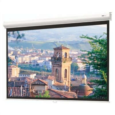 Matte White Manual Projection Screen Viewing Area: 8 H x 8 W
