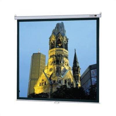 Model B Matte White Manual Projection Screen Viewing Area: 84 H x 84 W