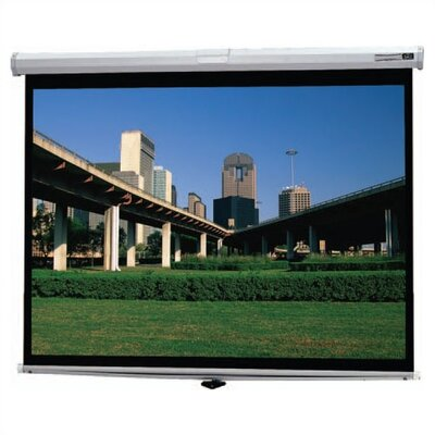Deluxe Model B Matte White Manual Projection Screen Viewing Area: 60 H x 80 W