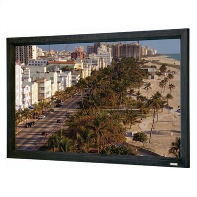 Cinema Contour Black Fixed Frame Projection Screen Viewing Area: 36