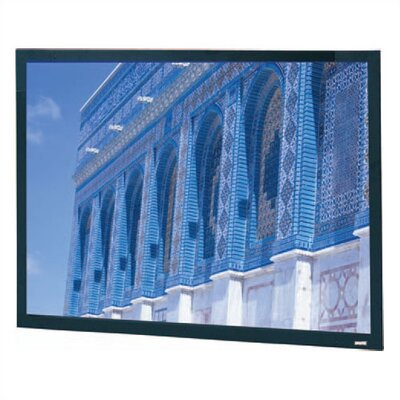 Da-Snap Black Fixed Frame Projection Screen Viewing Area: 52 H x 122 W