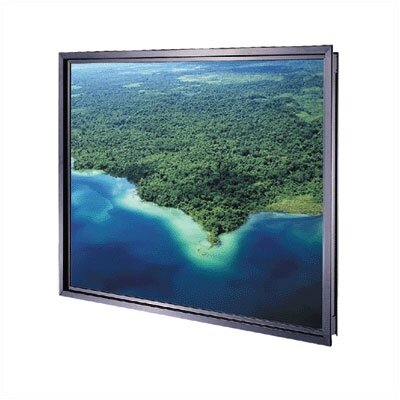 Da-Plex Rigid Rear Black Fixed Frame Projection Screen Viewing Area: 36 H x 48 W