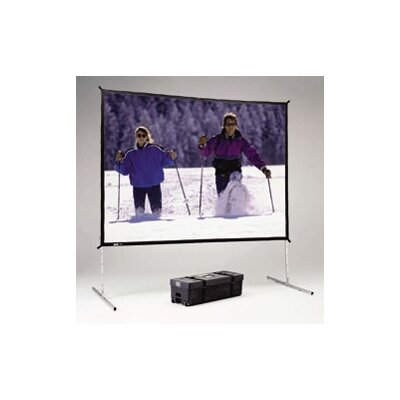 Fast Fold Deluxe Black Portable Projection Screen Viewing Area: 115 H x 115 W