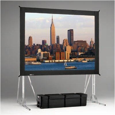 Black Portable Projection Screen Viewing Area: 12 H x 214 W