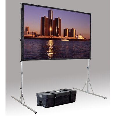 Fast Fold Deluxe Portable Projection Screen Viewing Area: 96 H x 96 W