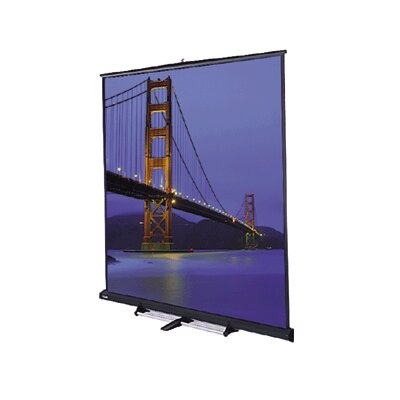 Model C Matte White Portable Projection Screen Viewing Area: 9 H x 9 W