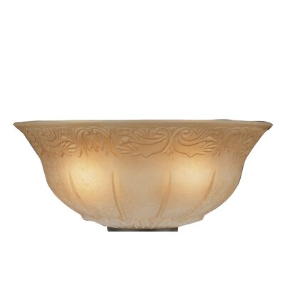 12 Glass Ceiling Fan Bowl Shade Finish: Antique Amber