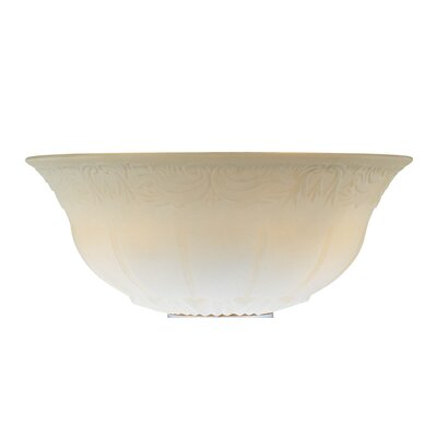 12 Glass Ceiling Fan Bowl Shade Finish: Etched White