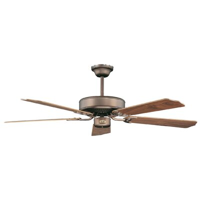 52 California Home 5-Blade Ceiling Fan Finish: Oil Brushed Bronze with Elm/Cherry Blades