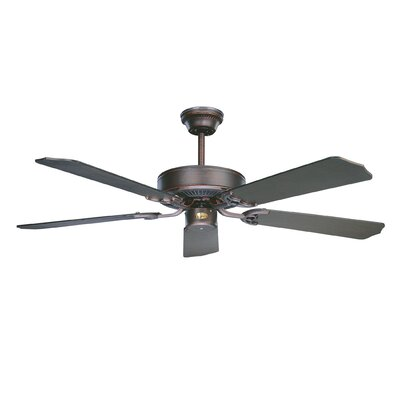 52 California Home 5-Blade Ceiling Fan Finish: Oil Rubbed Bronze with Oil Rubbed Bronze Blades
