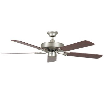 52 California Home 5-Blade Ceiling Fan Finish: Satin Nickel with Silver Oak Blades