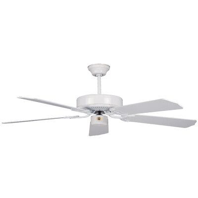 52 California Home 5-Blade Ceiling Fan Finish: White with White Blades
