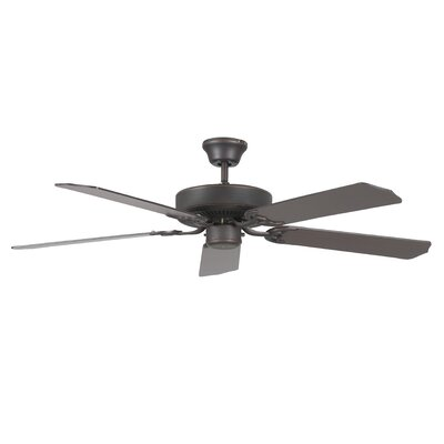52 Heritage 5-Blade Ceiling Fan Finish: Oil Rubbed Bronze with Oil Rubbed Bronze Blades