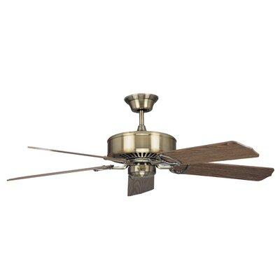 52 Madison 5-Blade Ceiling Fan Finish: Antique Brass with Light / Dark Oak Blades