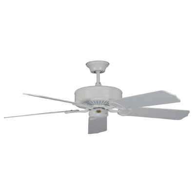 52 Madison 5-Blade Ceiling Fan Finish: White with White Blades