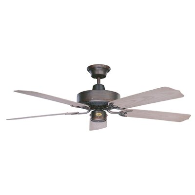 52 Nautika 5-Blade Ceiling Fan Finish: Oil Rubbed Bronze with Weathered Bronze Blades