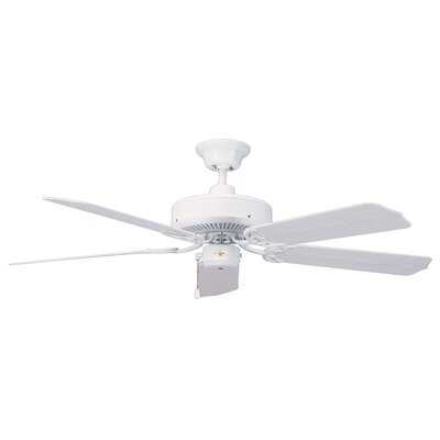 52 Nautika 5-Blade Ceiling Fan Finish: White with White Blades