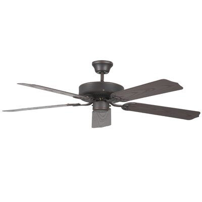 52 Porch 5-Blade Ceiling Fan Finish: Oil Rubbed Bronze with Weathered Bronze Blades