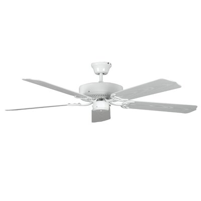 52 Porch 5-Blade Ceiling Fan Finish: White with White Blades
