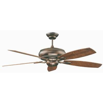 60 Roosevelt 5-Blade Ceiling Fan Finish: Oil Brushed Bronze with Elm / Cherry Blades