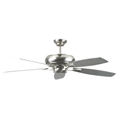 60 Roosevelt 5-Blade Ceiling Fan Finish: Stainless Steel with Chrome / Rosewood Blades