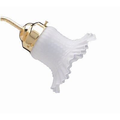5.75 Glass Bell Ceiling Fan Fitter Shade
