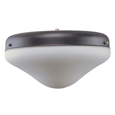 Outdoor 12 Glass Ceiling Fan Bowl Shade Finish: Oil Rubbed Bronze