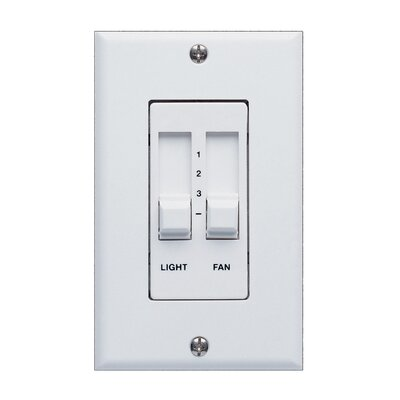 Three Level Ceiling Fan Slide Wall Control unit in White