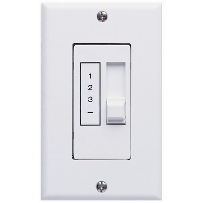 Three Speed Ceiling Fan Slide Wall Control Unit in White