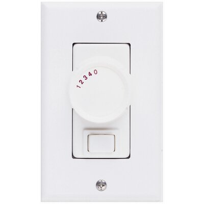 Three Way Ceiling Fan Rotary Wall Control Unit in White