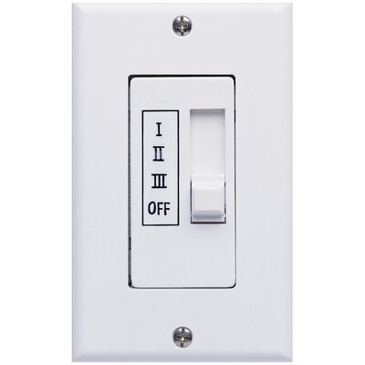 Three Speed Ceiling Fan Slide Wall Control in White