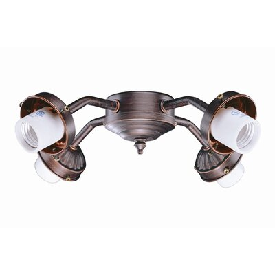 4-Light B8 Fitter in Oil Rubbed Bronze
